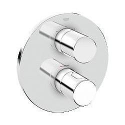 Grohe Grohtherm 3000 Cosmopolitan élément de finition pour élément d'installation universel avec thermostat, Aquadimmer - Chrome