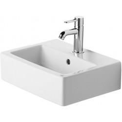 Duravit Vero Lave-mains 45 cm avec trop-plein et plage de robinetterie - Blanc