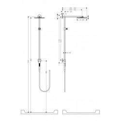 Hansgrohe Raindance Connect d 240 bras 460