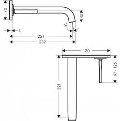 Axor Hansgrohe Citterio E mitigeur lavabo.enc. a.table