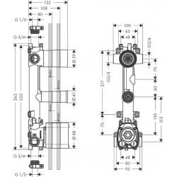 Axor Hansgrohe Citterio E module TH enc.38x12 2 cons