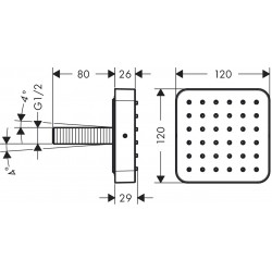 Axor Hansgrohe Citterio E module douche enc.12x12