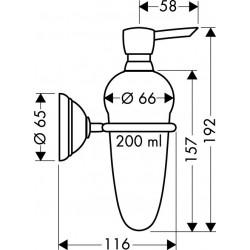 Axor Hansgrohe Carlton distributeur savon liquide