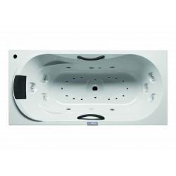 RIHO Dana 190x90 Blanche  commande électronique 7 touches  éclairage blanc R