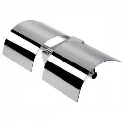 GEESA Porte-papier rouleau avec couvercle, double