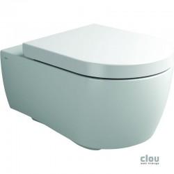 clou First toilette à suspendre, avec assise et abattant, système fermeture douceur et montage quick release, céramique