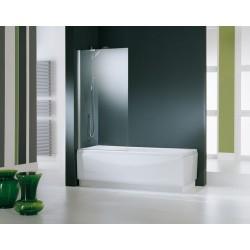Novellini  aurora 5 paroi de baignoire 75x150 cm verre trempe transparent  chrome