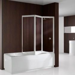 Novellini  aurora 9 pare-baignoire 3 pan. escam. acrylique cascade blanc 030