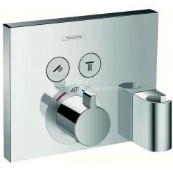Hansgrohe ShowerSelect thermostatique  encastré finition pour 2 systèmes avec support et coude
