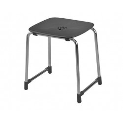 GEDY TABOURET ANTHRACITE/CHROME