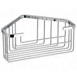 Gedy Support d'angle en fil 20x15x8,3 cm - Chrome