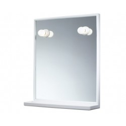 GEDY MIROIR A/SUPPORT ET ILL. BLANC