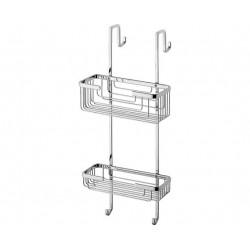 Gedy Porte-Objets en fil pour douche 24,5x18,5x55 cm - Chroom