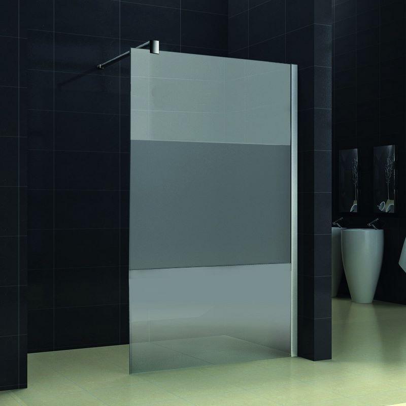 promo sur paroi de douche italienne de 120 cm paisseur 8mm bande mat