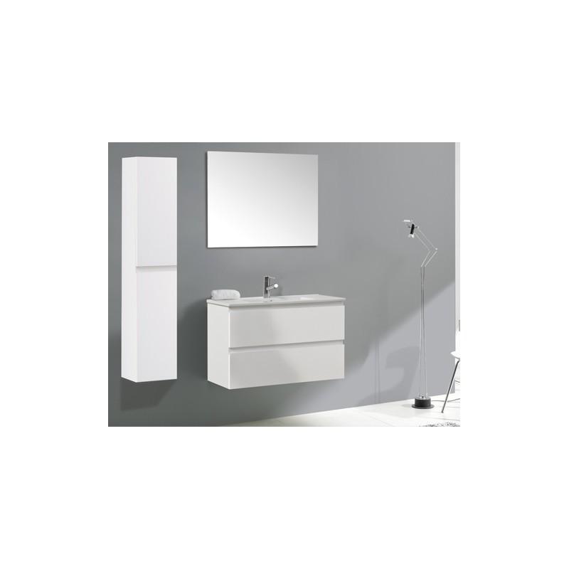 meuble deux tiroirs soft close l80xh50xp45 cm couleur pino jackson vasque de 80 cm en porcelaine miroir de 80x60 cm tous nos meubles sont monts dusine