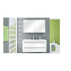 Meuble de salle de bain Pelipal Cubic de 120 cm blanc