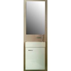 Pack Meuble de toilette Salerno blanc