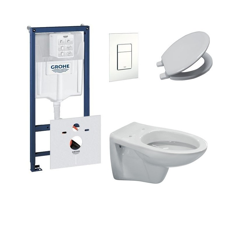 grohe pack toilette suspendue ideal standard complet touche blanc banio. Black Bedroom Furniture Sets. Home Design Ideas