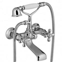 PONSI Viareggio mitigeur baignoire montage sur gorge 3 trous NICKEL