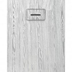 PONSI Receveur  de douche MADERA   120X 80 cm  Couleur blanc et gris