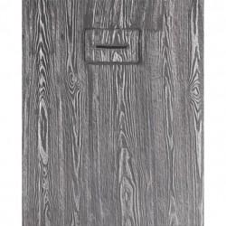 PONSI Receveur  de douche MADERA   160X 80 cm  Couleur blanc et gris foncé