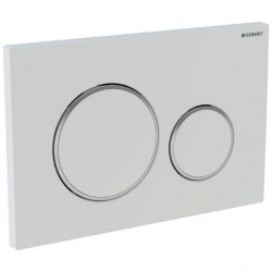 GEBERIT PLAQUE DE COMMANDE SIGMA 20 GEBERIT 2 TOUCHES BLANC CHROME BRILLANT