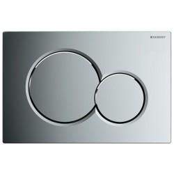 GEBERIT PLAQUE DE COMMANDE 2 TOUCHES SIGMA01 CHROME BRILLANT