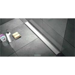 Caniveau de douche en inox de 100 cm avec grille plein et pieds