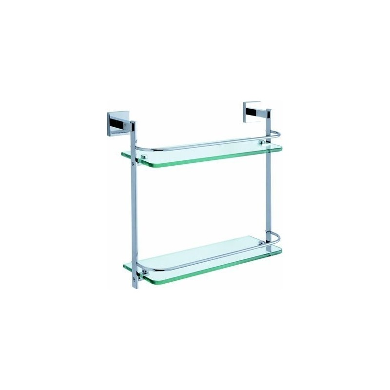 Damixa Salle de bain tablette en verre double 410 mm chromé: 48292.00