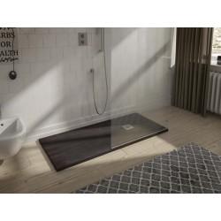 Receveur de douche minérale finition naturelle SOLID-HALLIOS de 70 X 180