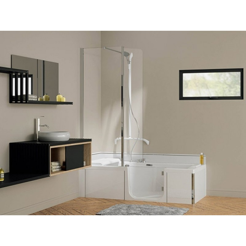 combin douche baignoire duo kinedo 160x75 cm duo pack 160 75. Black Bedroom Furniture Sets. Home Design Ideas