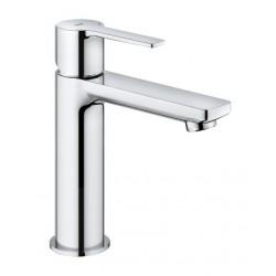 Grohe Lineare mitigeur monocommande lavabo, taille S, 28 mm, corps lisse et vidage push-open, chromé