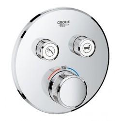 Grohe SmartControl thermostat encastré, 2 sorties, rond