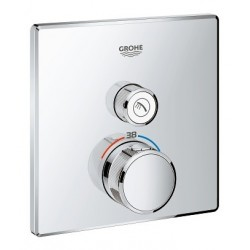 Grohe SmartControl thermostat encastré, 1 sortie, carré
