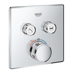 Grohe SmartControl thermostat encastré, 2 sorties, carré