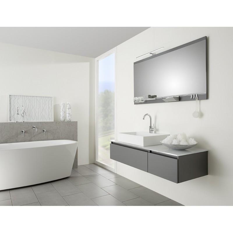 Meuble de salle de bain Pelipal Contigo suspendue vasque à poser plan en  verre