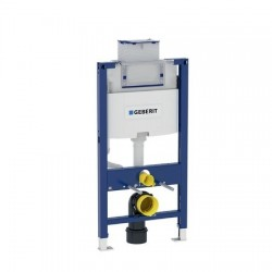 Elément Geberit Duofix pour cuvette de WC suspendue, 98 cm, avec réservoir de chasse à encastrer Omega 12 cm