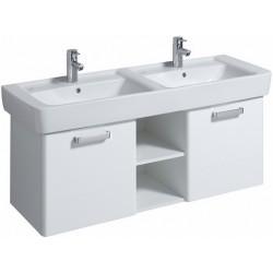 KERAMAG Meuble sous lavabo Plan 1200mm avec 2glissières, blanc