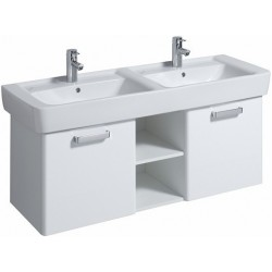 KERAMAG Meuble sous lavabo Plan 1200mm, avec 2portes, blanc