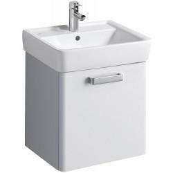 KERAMAG Meuble sous lavabo Plan 485mm, avec roulement, blanc