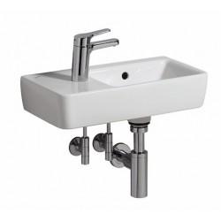 KERAMAG Lave-mains Comprimo 500mm/tablette + trou à gauche