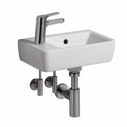 KERAMAG Lave-mains Comprimo 400x250mm, trou à gauche