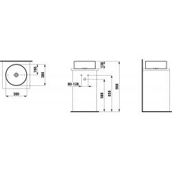 LAUFEN Living Square vasque à poser Lignes de design Ø 380 SaphirKeramik -