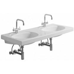 KERAMAG Double lavabo Preciosa 1300x550mm, sans trop-plein