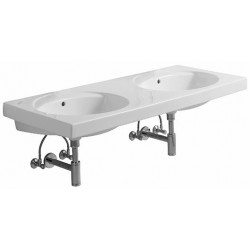 KERAMAG Double lavabo Preciosa 1300x550mm, sans trou