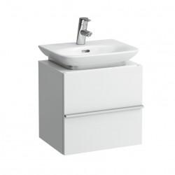LAUFEN New Case Meuble sous lavabo avec une porte, charnières gauche, 45x34, chêne anthracite