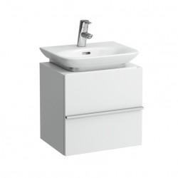 LAUFEN New Case Meuble sous lavabo avec une porte, charnières droite, 45x34, chêne antracite
