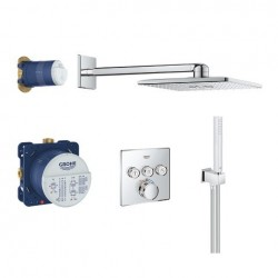 Grohe Perfect Shower Set avec SmartControl thermostat encastré, 3 sorties, carré