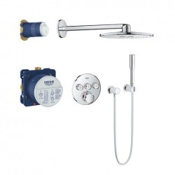 Grohe Perfect Shower Set avec SmartControl thermostat encastré, 3 sorties, rond