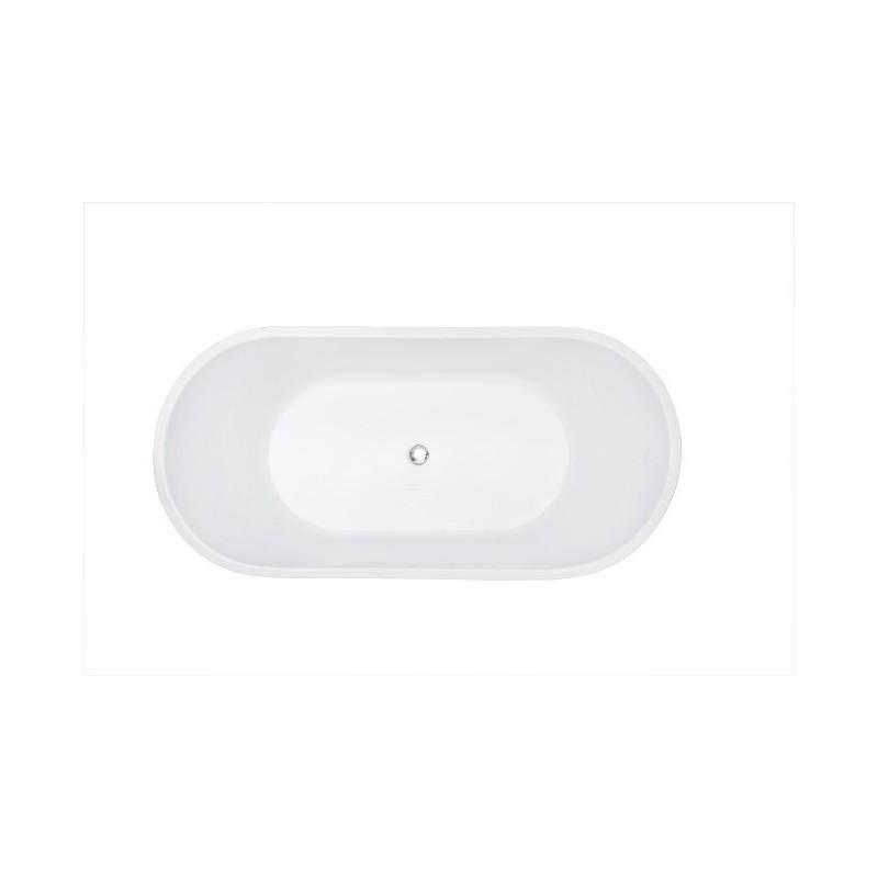 Baignoire Ilot ovale monobloc Banio Laetitia blanc 170x80x60 cm
